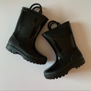 Toddler Rubber Black Boots, size 9